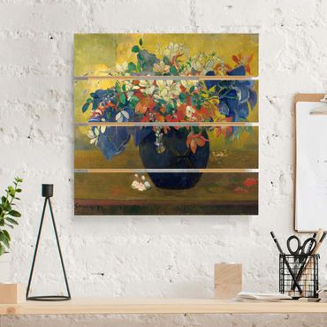 Stampa su legno - Paul Gauguin - vaso con fiori - Quadrato 1:1