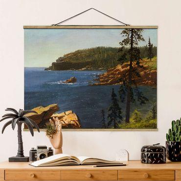 Foto su tessuto da parete con bastone - Albert Bierstadt - Costa della California - Orizzontale 3:4
