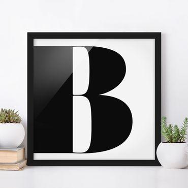 Poster con cornice - Antiqua Letter B - Quadrato 1:1
