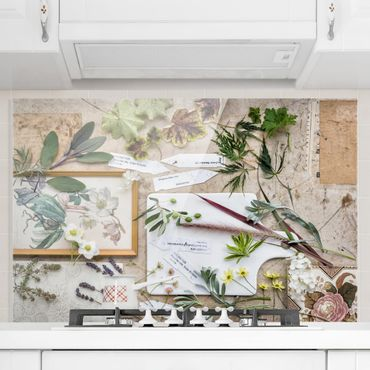 Paraschizzi in vetro - Flowers And Garden Herbs Vintage - Orizzontale 2:3