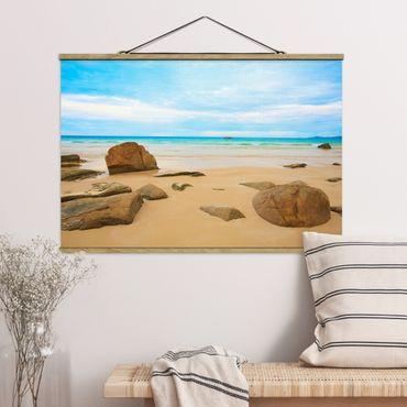 Foto su tessuto da parete con bastone - Rocky Beach - Orizzontale 2:3