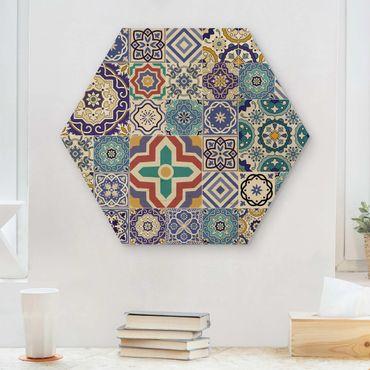 Esagono in legno - Specchio Tiles - Elaborare portoghese Piastrelle