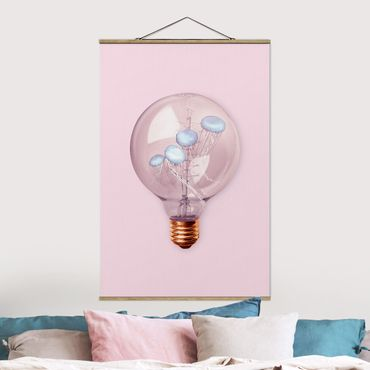 Foto su tessuto da parete con bastone - Lampadina con le meduse - Verticale 3:2