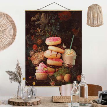 Foto su tessuto da parete con bastone - Floreale dolce Bouquet - Verticale 4:3