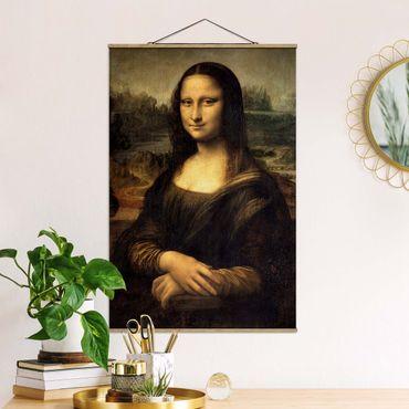 Foto su tessuto da parete con bastone - Leonardo Da Vinci - Monna Lisa - Verticale 3:2