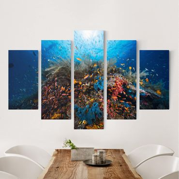 Stampa su tela 5 parti - Lagoon Underwater