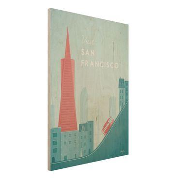 Stampa su legno - Poster Travel - San Francisco - Verticale 4:3