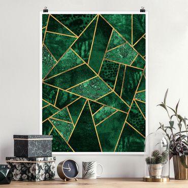 Poster - Dark Emerald con oro - Verticale 4:3