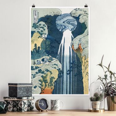 Poster - Katsushika Hokusai - La cascata di Amida - Verticale 3:2
