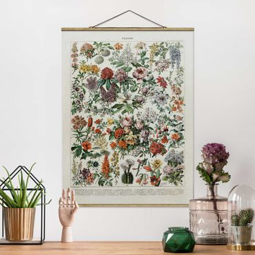 Foto su tessuto da parete con bastone - Vintage Consiglio Flowers II - Verticale 4:3