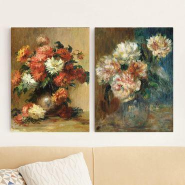 Stampa su tela 2 parti - Auguste Renoir - Vases - Verticale 4:3