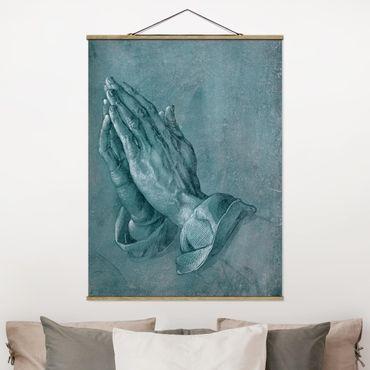 Foto su tessuto da parete con bastone - Albrecht Dürer - Studio di mani in preghiera - Verticale 4:3