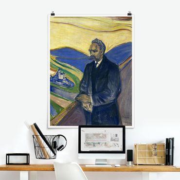 Poster - Edvard Munch - ritratto Nietzsche - Verticale 4:3