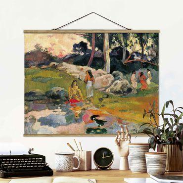 Foto su tessuto da parete con bastone - Paul Gauguin - Riverside - Orizzontale 3:4