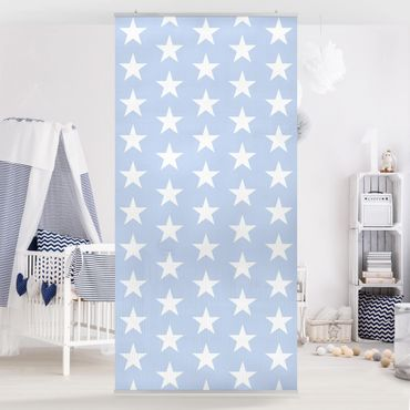 Tenda a pannello White Stars On Blue 250x120cm