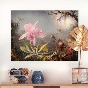 Stampa su tela - Martin Johnson Heade - orchidea e Tre colibrì - Orizzontale 3:4