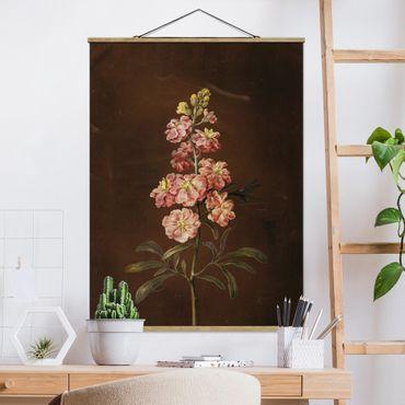 Foto su tessuto da parete con bastone - Barbara Regina Dietzsch - Un Pink Garden Levkkoje - Verticale 4:3