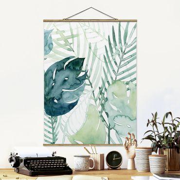 Foto su tessuto da parete con bastone - Palm Fronde in acquerello I - Verticale 4:3
