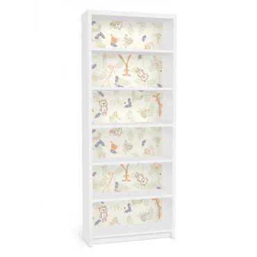 Carta adesiva per mobili IKEA - Billy Libreria - Pastel Plushies