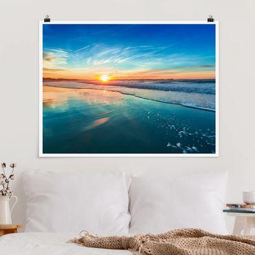 Poster - Romantico tramonto sul mare - Orizzontale 3:4