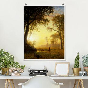 Poster - Albert Bierstadt - Sunlit Glade - Verticale 4:3