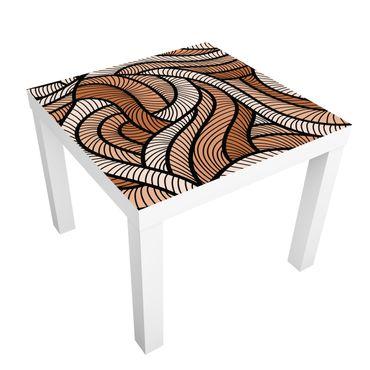 Carta adesiva per mobili IKEA - Lack Tavolino Woodcut in brown