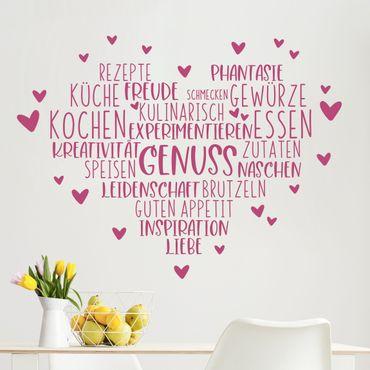 Adesivo murale - cuore Piacere