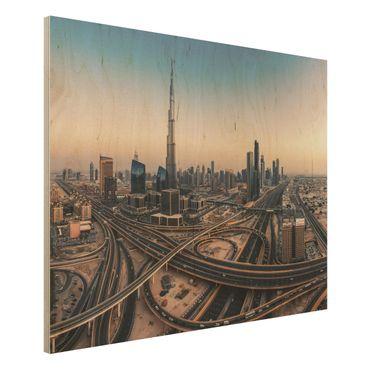 Quadro in legno - Serata A Dubai - Orizzontale 4:3