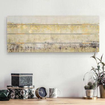 Stampa su legno - Golden Color Fields I - Orizzontale 2:5