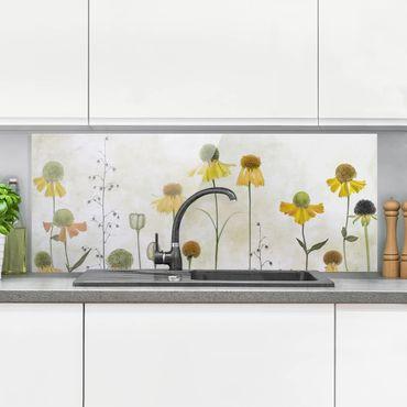 Paraschizzi in vetro - Delicate Helenium Flowers - Panoramico