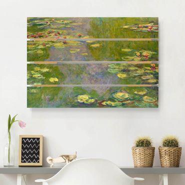 Stampa su legno - Claude Monet - Verde Ninfee - Orizzontale 2:3