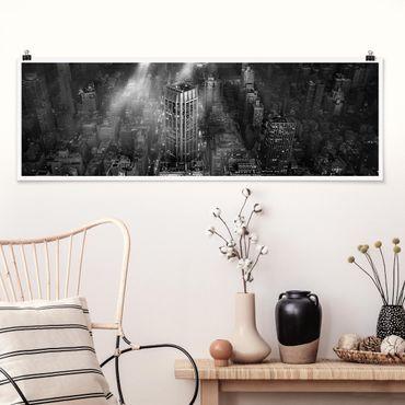 Poster - Luce del sole su New York - Panorama formato orizzontale