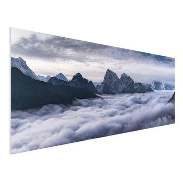 Quadro in forex - Mare di nubi in Himalaya - Panoramico