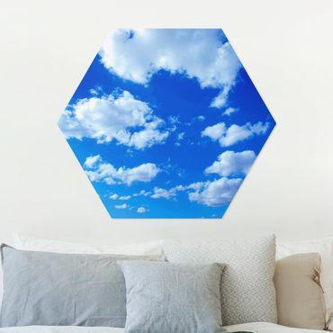 Esagono in Alu-dibond - cielo nuvoloso