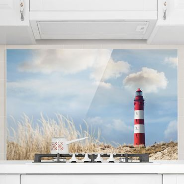 Paraschizzi in vetro - Lighthouse In The Dunes - Orizzontale 2:3