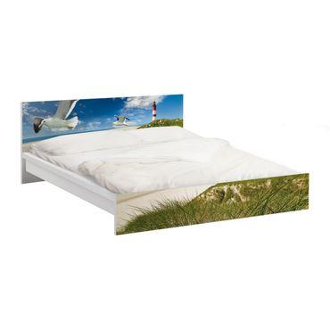 Carta adesiva per mobili IKEA - Malm Letto basso 160x200cm Dune Breeze