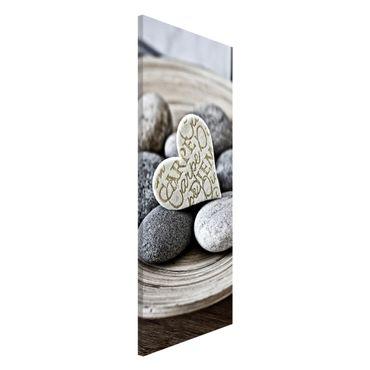 Lavagna magnetica - Carpe Diem di cuore con pietre - Panorama formato verticale