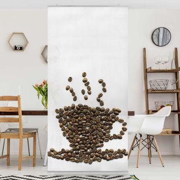 Tenda a pannello Coffee Beans Cup 250x120cm