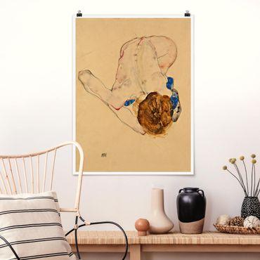 Poster - Egon Schiele - Forward flesso Act - Verticale 4:3