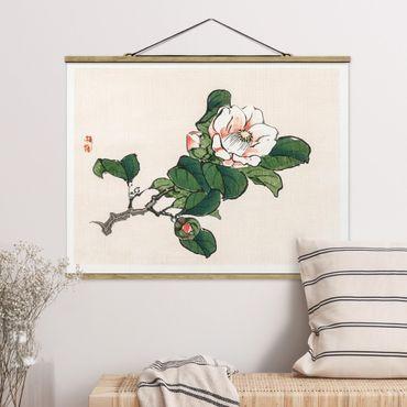 Foto su tessuto da parete con bastone - Asian Vintage Disegno Apple Blossom - Orizzontale 3:4