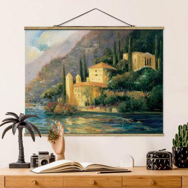 Foto su tessuto da parete con bastone - Campagna italiana - Country House - Orizzontale 3:4