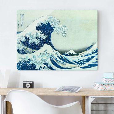 Quadro in vetro - Katsushika Hokusai - La grande onda a Kanagawa - Orizzontale 3:4