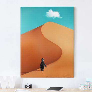 Stampa su tela - Deserto Con Penguin - Verticale 4:3