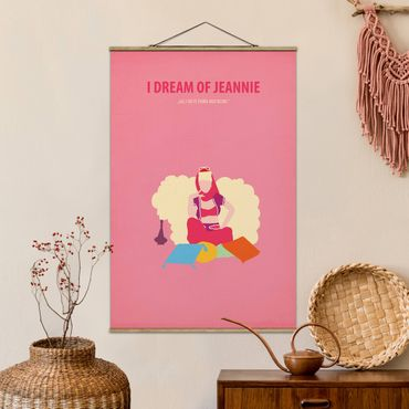 Foto su tessuto da parete con bastone - Locandina cinematografica I Dream Of Jeannie - Verticale 3:2