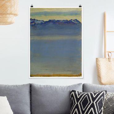 Poster - Ferdinand Hodler - Lago di Ginevra con le Alpi - Verticale 4:3