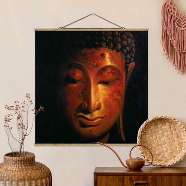 Foto su tessuto da parete con bastone - Madras Buddha - Quadrato 1:1