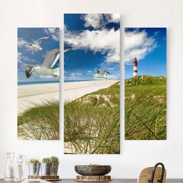 Stampa su tela 3 parti - Dune Breeze - Trittico da galleria