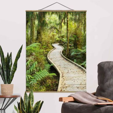 Foto su tessuto da parete con bastone - Percorso In The Jungle - Verticale 4:3