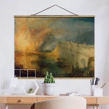 Foto su tessuto da parete con bastone - William Turner - Parlamento Fuoco - Orizzontale 3:4