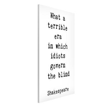 Lavagna magnetica - Quale terribile Era Shakespeare - Formato verticale 4:3